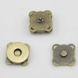 Magnetic clasp for bag making, High quality metal alloy, Bronze colour, 2 Pair, 1.5cm, [PJK049]